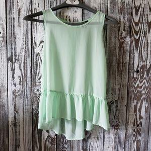 Forever 21 peplum sleeveless blouse ze